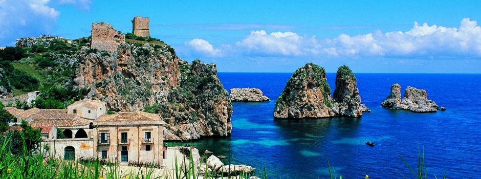 Scopello sicilia case vacanze dg group immobiliare for Appartamenti sicilia